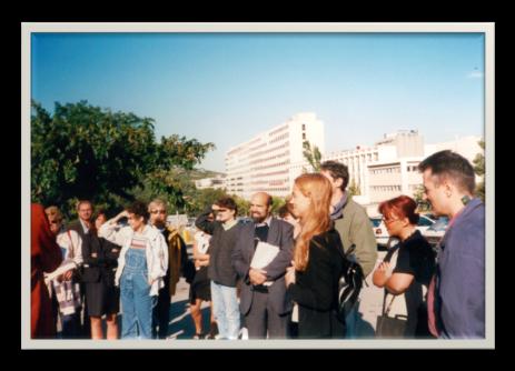 Visite du site de construction du future Institut de Neurobiologie de la Méditerranée (Inmed) sur le Campus Universitaire de Luminy